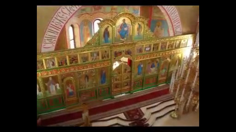 Служба в православном храме в Улан-Баторе (Монголия)