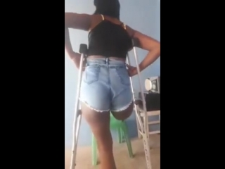 Sexy amputee dancing