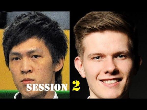 Adam Stefanów v Thepchaiya Un-Nooh (session 2) | R2 World Snooker Championship Qualifiers 2018