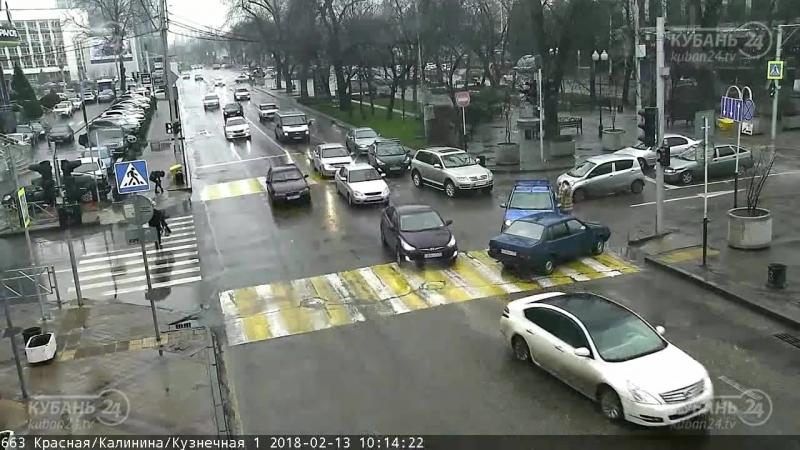 ДТП на Красная/Кузнечная. 13 февраля. Краснодар.