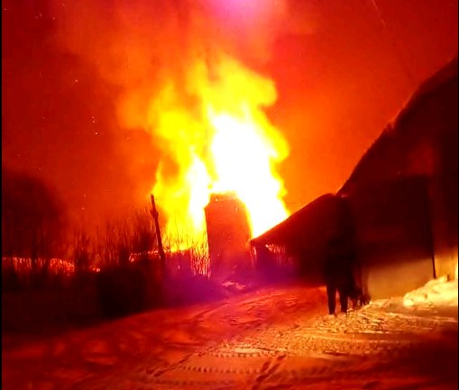 элеватор сгорел