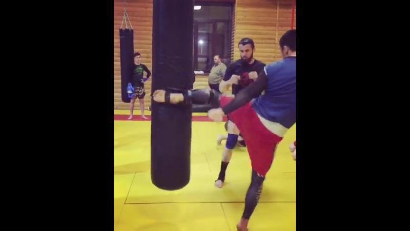 Тренировка Баширова и Байбатырова в зале клуба Беркут