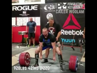 Кайлер Вулам (Kyler Woolam) тяга 421@100. 12.11.17Турнир Reebok record brakers