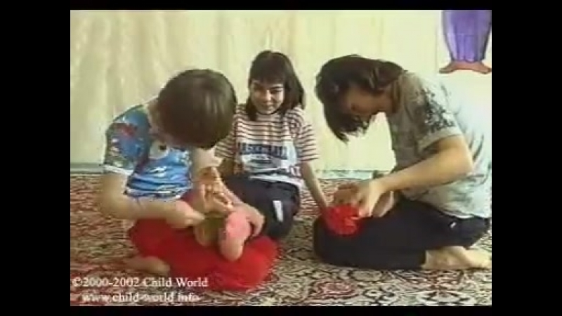 Little Girls And Boys Tickles Each Other Feet