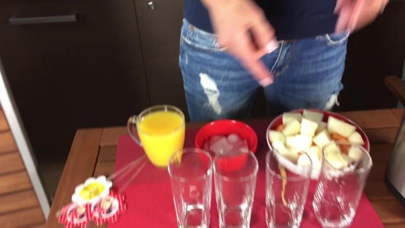 Вкусный коктейль на блендере Смузи из Дыни коктейли для детей и взрослых