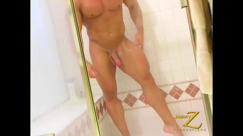 Muscle Father's sexy shower