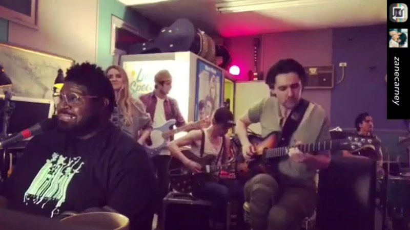 Adam Lamberts 3 IG videos Reeve Carney The Revolving Band at the Troubadour 2018-05-21