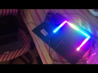 лента WS2812B на питании от порта USB-C (15 Ватт)