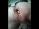 Фистинг попки лимоном