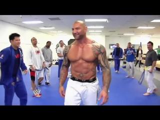 Dave Bautista BJJ purple belt whipping