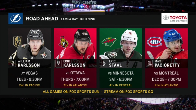 NHL 2017/12/16 RS Tampa Bay Lightning vs Colorado Avalanche