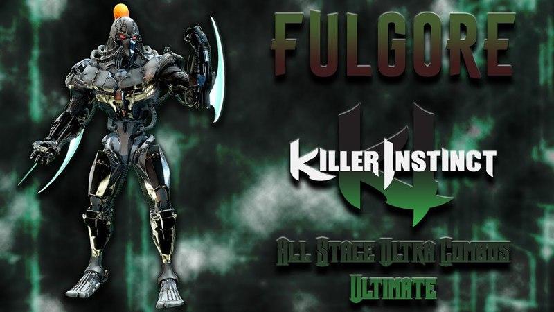 Killer Instinct - Fulgore - All Stage Ultra Combo