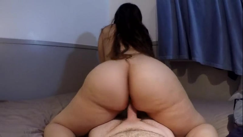 THICK ASS BRUNETTE GYRATES REVERSE COWGIRL POV UNTIL HOT MESSY CREAMPIE big ass butts booty tits boobs bbw