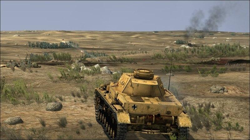 Реалистичная Стратегия про Войну в Пустыне ! Игра Tank Warfare: Tunisia 1943