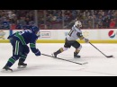 Canucks' Pouliot bobbles puck Golden Knights' Marchessault takes advantage and scores