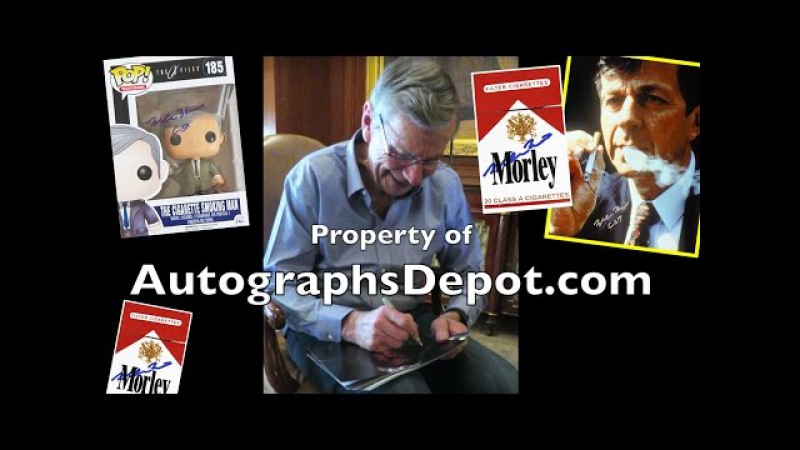 The X-Files Cigarette-Smoking Man - William B. Davis private autograph signing (March '16)