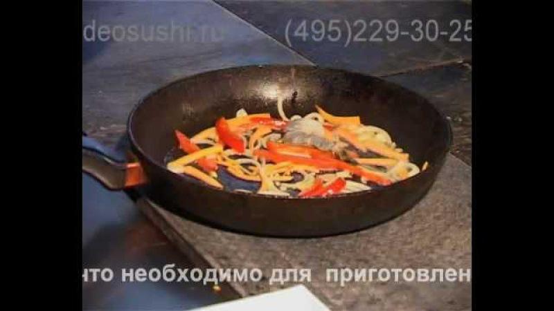 Приготовление гречневой лапши с креветками