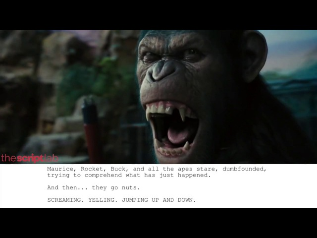 Rise of the Planet of the Apes   Caesar Speaks HD - Script to Screen to The Script Lab