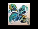 Acrylic Pouring Painting 8, Fluidpainting 60 x 60 cm, Giesstechnik, Fluid-Art