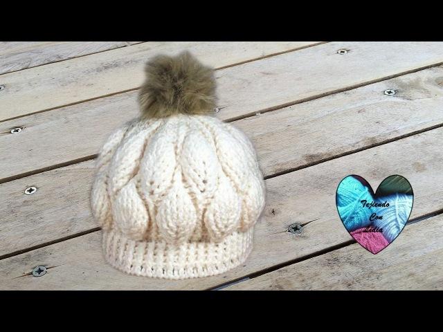 Gorro hojas en relieve tejido a crochet lindo y facil paso a paso