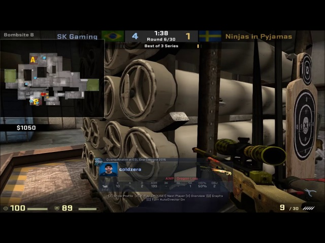 POV - Coldzera (SK)(32-9) vs NiP / cache / IEM Oakland 2017 Semi-final