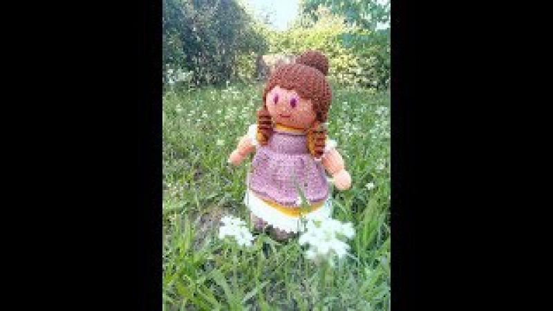МК куколка Анабель спицами (часть ІІ)