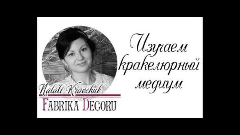Изучаем кракелюрный медиум ТМ Фабрика Декора. Мастер - класс от Natali Kravchuk.