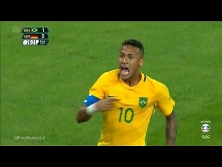 Neymar AMAZING Freekick Goal 1-0 - Brazil vs Germany - Final Rio 2016 HD