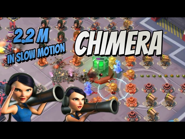 Boom Beach Chimera solo with Bullit (2.2M Core Health)