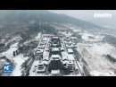 LIVE: Shaolin monks practice Kung Fu in the snow