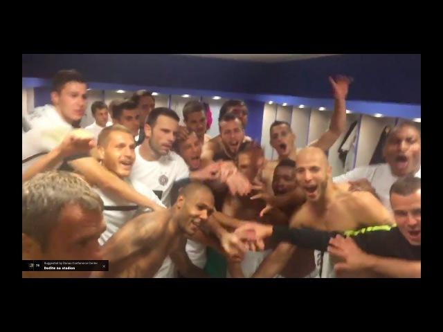 TV Partizan: Slavlje u svlačionici Partizana nakon ulaska u Ligu Evrope