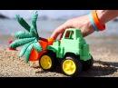 Мультики про машинки в песке. Учим цвета с игрушками