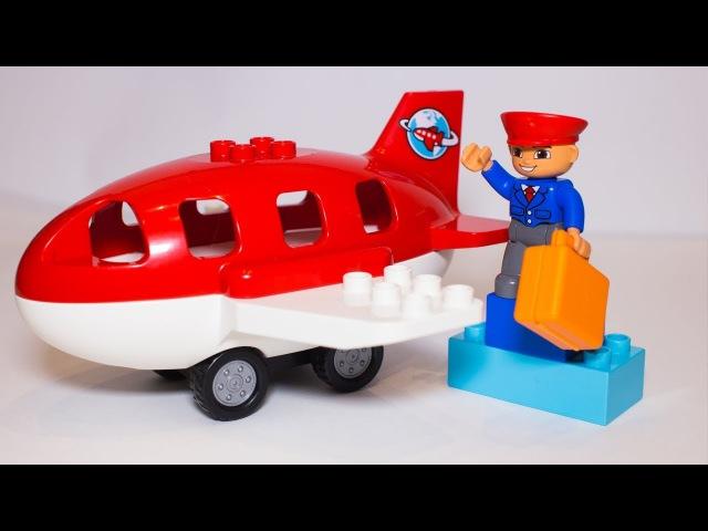 Как собрать большой самолет из Лего? Запоминаем цвета | LEGO DUPLO airport