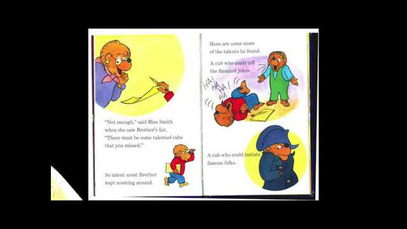 The Berenstain Bears and The Talent Show I Read Aloud Picture Book