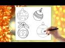 Bombki choinkowe Jak narysować Bombkę choinkową Nauka rysowania krok po kroku