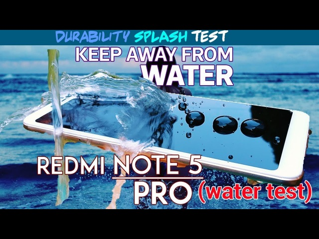 Redmi Note 5 Pro WATER TEST☔💦 (Durability Video) =)
