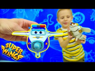 Супер Крылья Трансформеры и Даник. Игрушки для мальчиков. Super Wings