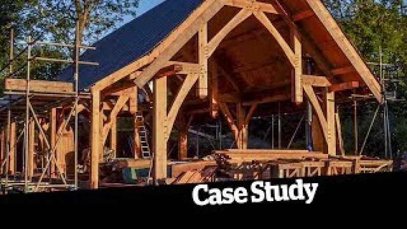 An amazing timber frame, straw bale self build for £67k