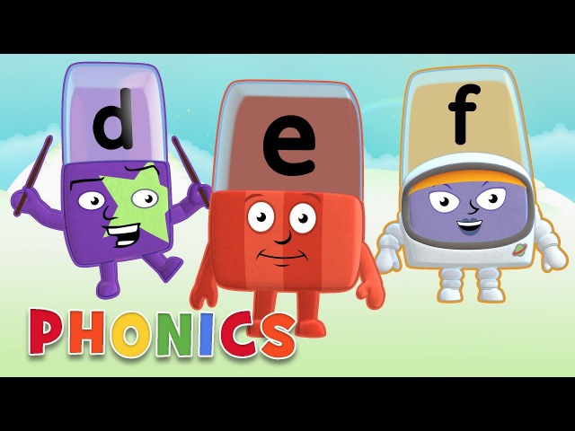 Phonics Learn to Read Letters D E F Alphablocks