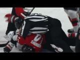 Alex Burrows knees Taylor Hall in the back of the head during scrum