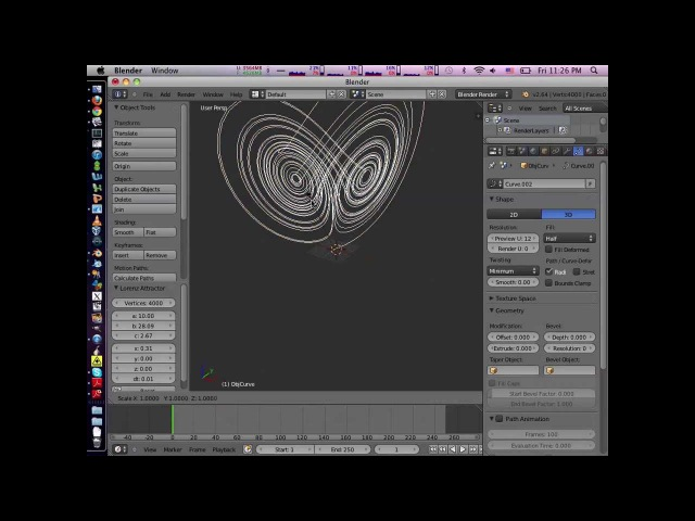 Blender Strange Attractor Extension/Plugin