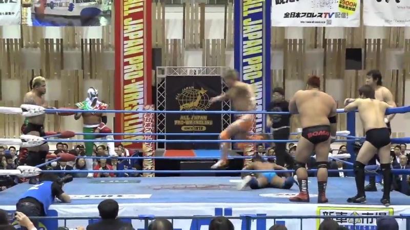 Atsushi Maruyama, Shigeno Shima, Takao Omori, Yuji Hino vs. Ryouji Sai, Ultimo Dragon, Yusuke Okada, Zeus (AJPW)