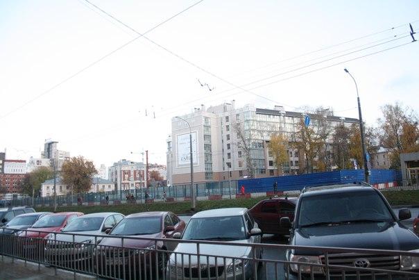 Новенькие дома возле управы МВД