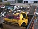Мусородробилка Metso M J PreShred 4000 измельчает автомобили