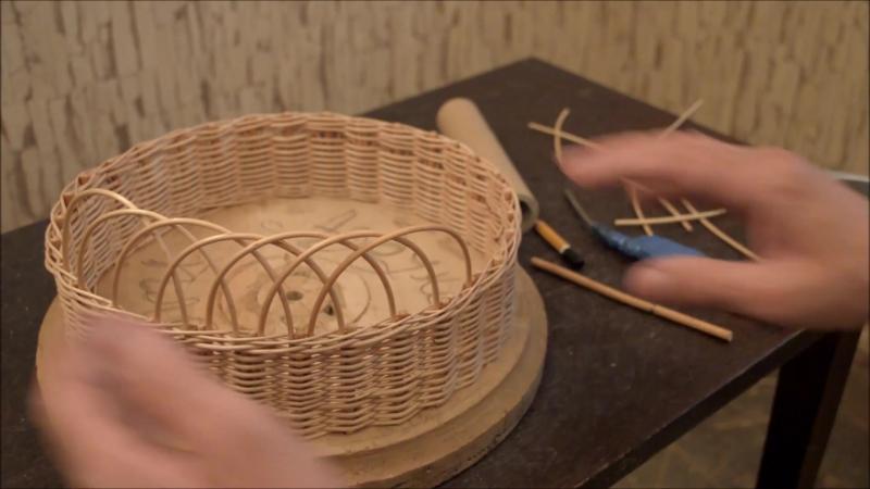 """Плетение из лозы- Кромка """"Ажур"""" - Азбука плетения-Wickerwork"""