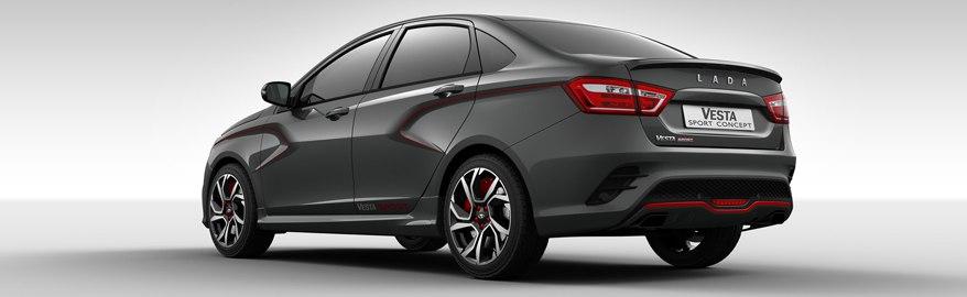 У Lada Vesta Sport будет «чёрный-чёрный» салон
