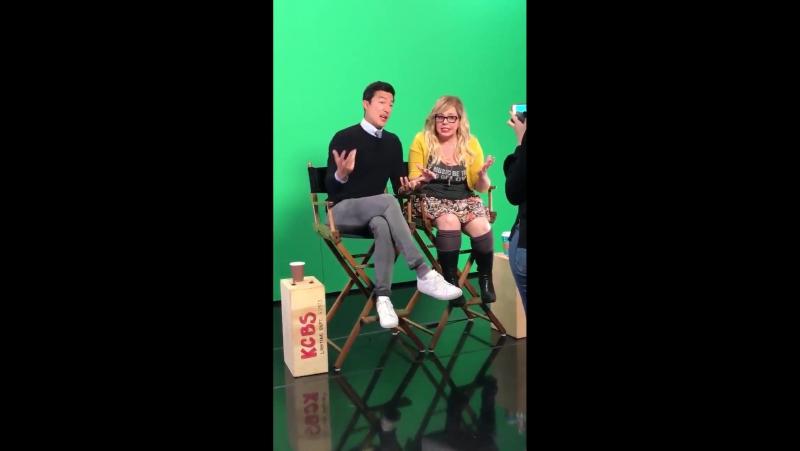 Кирстен и Дэниел на телевидении