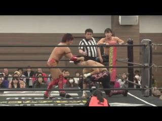 HARASHIMA, Soma Takao vs. Kazusada Higuchi, MAO (DDT - Dramatic Nerima the Fighter 2018)