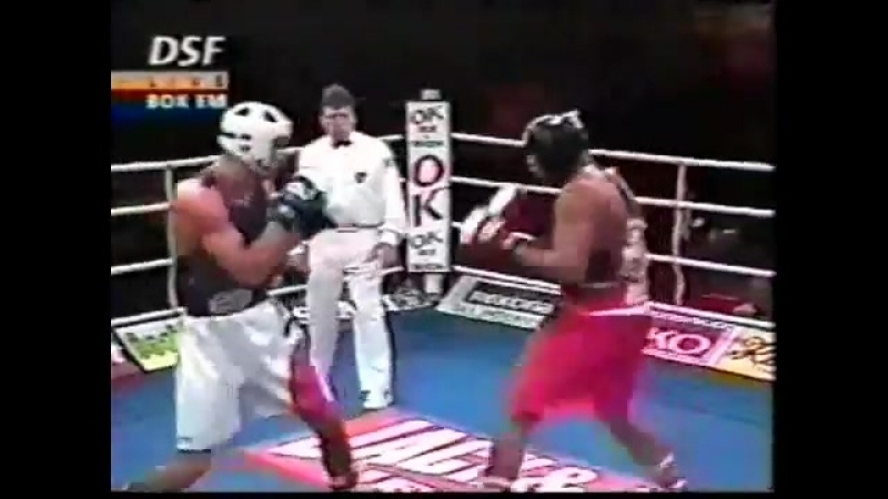 Владимир Кличко Украина Атилла Левин Швеция ЧЕ 1996г 1 2
