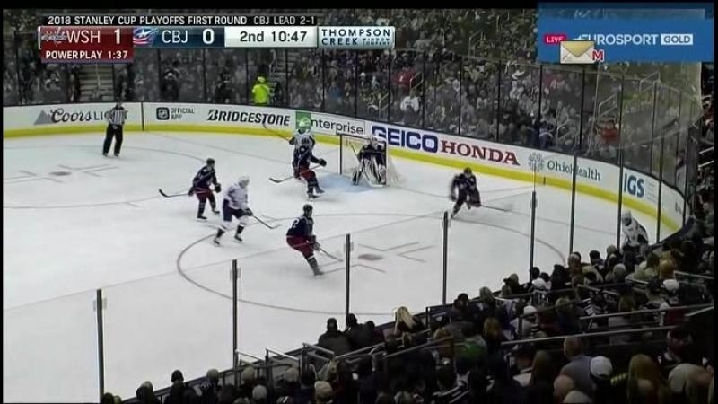 Washington Capitals Columbus Blue Jackets 19 04 2018 Round 1 Game 4 NHL Stanley Cup Playoffs 2018 Eurosport Gold RU